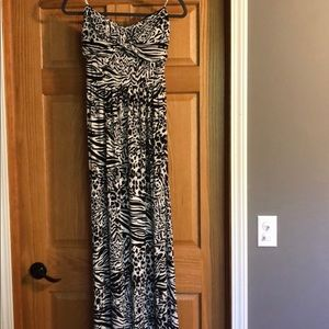 Guess leopard and cheetah print maxi dress